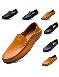 todaysunny Penny Loafers Men Shoes Slip On Moccasins Driving Shoes Boat Shoes Walking Shoes Lightweight Flats Leather Casual Breathable