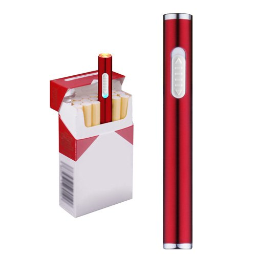 Usb Electric Cigarette Lighter Mini Protable Rechargeable Windproof Flameless No Gas Lighter (Windproof Cigarette Lighter)