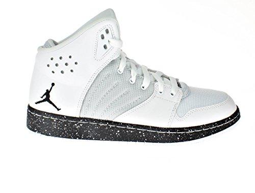 Jordan Kids 1 Flight 4 Prem BG Basketball Shoes (7Y, White/Black-Pure Platinum) by NIKE