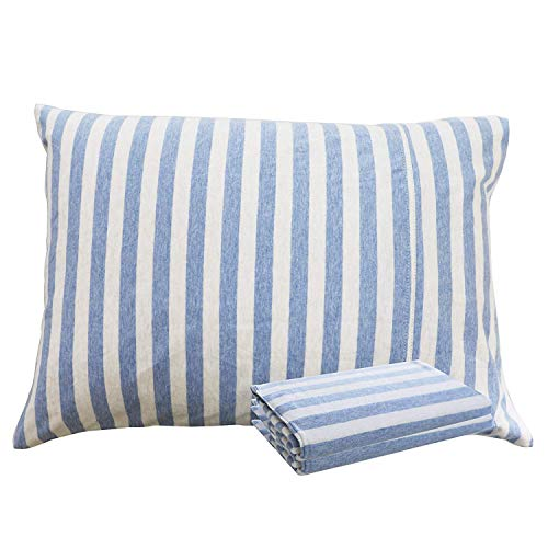 "NTBAY 100% Organic Cotton Toddler Pillowcases Set of 2, Soft and Breathable, 13""x 18"", Blue and White from NTBAY"