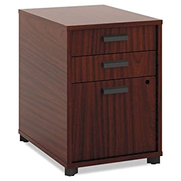 basyx by HON Manage Pedestal File 3 Drawers - 22-Inch - Chestnut