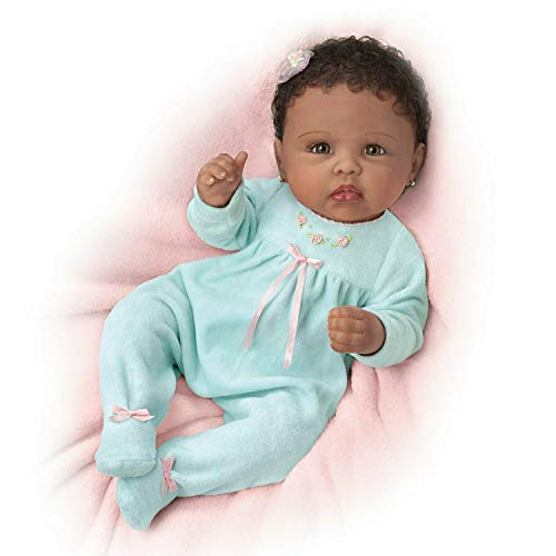 The Ashton-Drake Galleries Linda Murray So Truly Real Tiffany Weighted Poseable Baby Doll:by]()