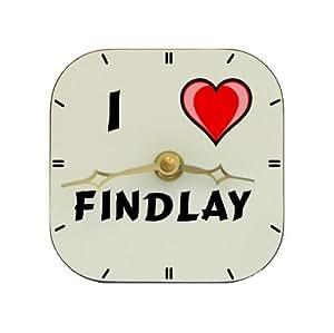 Reloj de mesa con Amo Findlay (nombre de pila/apellido/apodo)