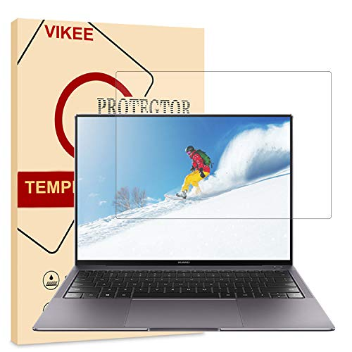 [1 Pack] Huawei MateBook X Pro Screen Protector, VIKEE HD Clear [Anti-Fingerprint][Bubble-Free][Easy to Install] 9H Hardness Tempered Glass Screen Protector Film for Huawei MateBook X Pro