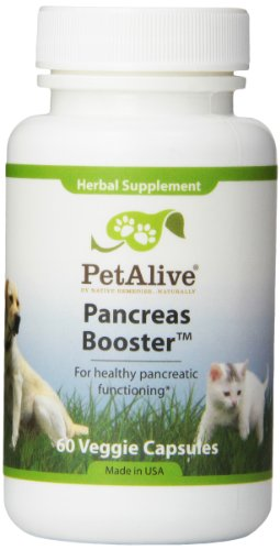 PetAlive Pancreas Booster Capsules, 60-Count Bottle -