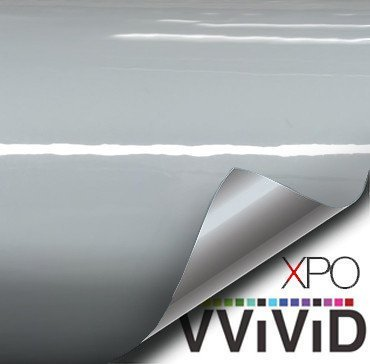 VVIVID+ Elephant Grey Nardo Gray Gloss Vinyl Car Wrap Film 1ft x 5ft Roll DIY Easy to Install No-Mess Decal BHBAZUKAZIND035