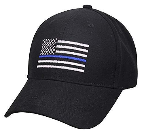 Blue Lives Matter Hat - Thin Blue Line Baseball Cap, Unisex Hat with Adjustable Velcro Back Strap.