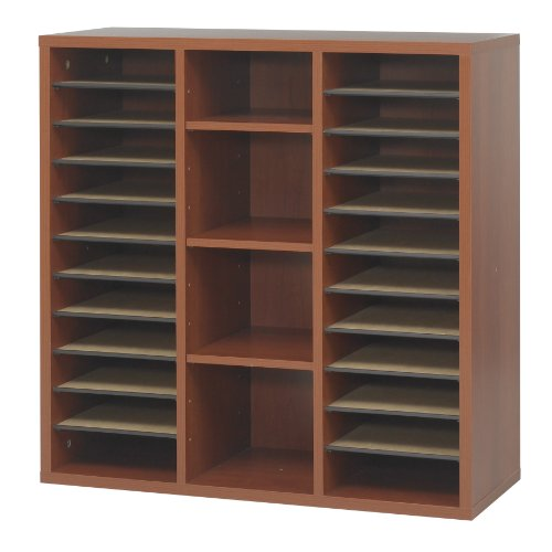 Safco Products 9441CY Apres Modular Storage Literature Organizer, Cherry by Safco Products