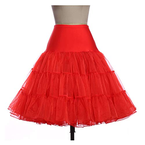 Vintage Jupes Femme Robe Jupe Femmes Violet Pettiskirt Fluffy Red 12 Rtro Mariage pour Jupon wAqYw4