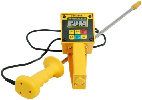 Draminski Hay Straw High-Moisture Meter with Probe Plus Temperature Display