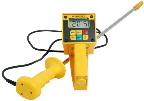 Draminski Hay & Straw High-Moisture Meter with Probe Plus Temperature - Hay Tester