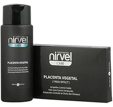 Pack Control Caída Placenta 10 Ampollas + Champú 250 ml. Nirvel ...