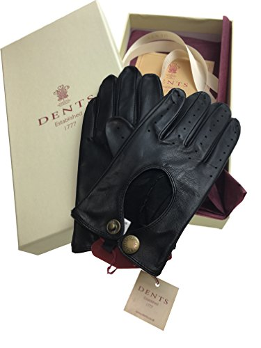 DENTS Premium Kangaroo Leather Unlined Driving Gloves Ladies Winter Gift 77-0038 (Large, Black) by Dents