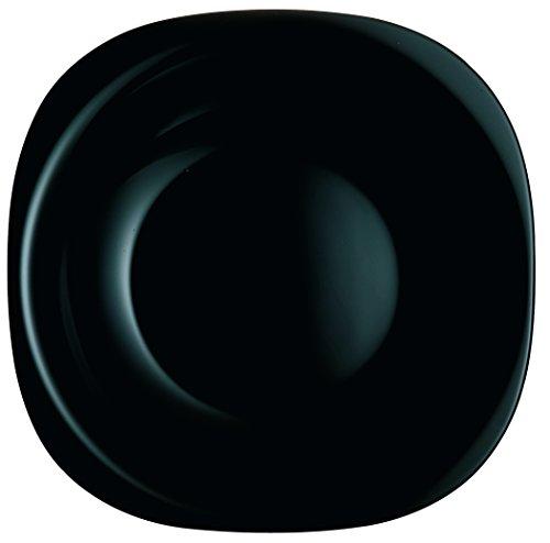 Luminarc 26.5 cm Carine Glass Dinner Plate, Black - 1 Plate