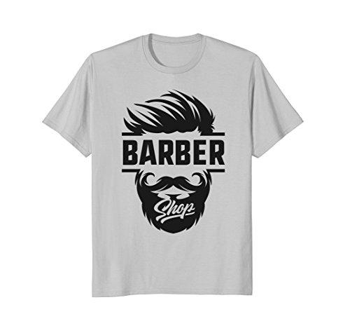 Mens Barber Shop Apron Combo Blade Case Station Hair Set T-Shirt XL ()