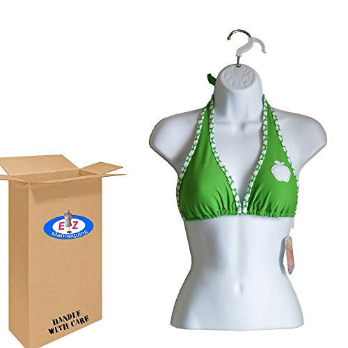 Female Torso Body Mannequin Form (Waist Long) - Great For Small And Medium Sizes - White ()