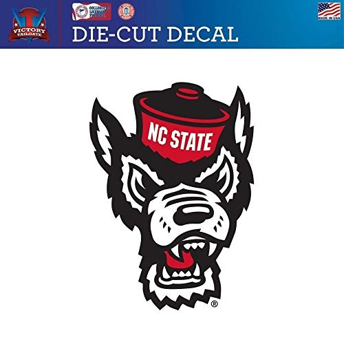 (Victory Tailgate North Carolina State Wolfpack NC State Logo Design Die Cut Vinyl Decal 1 (6x6) )