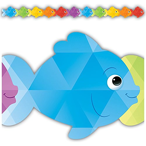 Teacher Created Resources Colorful Fish Die-Cut Border Trim