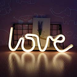Neon Love Signs Light LED Neon Art Decorative Lights Wall Decor for Girls Bedroom House Bar Pub Hotel Beach Recreational (love warm white)