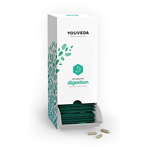 YouVeda – My Healthy Digestion|Premium Ayurvedic & Herbal Supplements & Mobile App|Convenient All in one Packet|30 Day Supply|Doctor Formulated|Liver Support|Supports Healthy Bowel Regulation