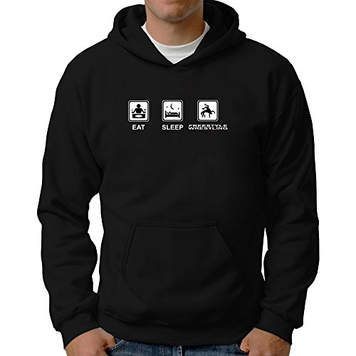 Eddany Eat sleep Freestyle Wrestling Hoodie