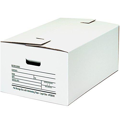 Aviditi Interlocking Flap File Storage Boxes, 24
