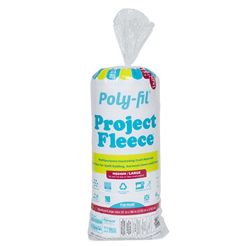 Fairfield VFW81B Poly-Fil Project Fleece Polyester Batting, 81