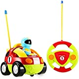 Holy Stone RC Cartoon Race Car with Music & Lights Electric Radio Control Toy for Baby Toddlers Kids & Children