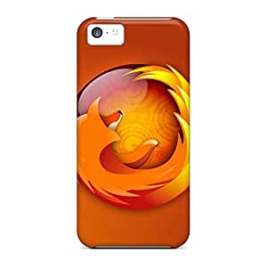 Colorful mobile phone carrying covers Protective Cases covers iphone 5c - firefox bubbles