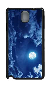 free cases clouds full moon PC Black case/cover for Samsung Galaxy Note 3 N9000