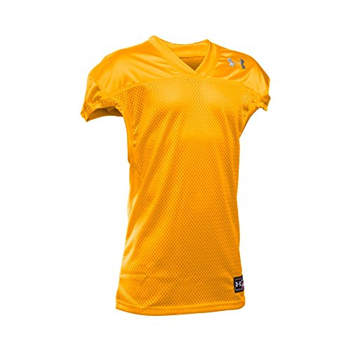 Under Armour Boys Football Jersey, Steeltown Gold/Steel, Youth Small