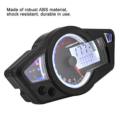 1549c9e29 Acouto Universal 15000RPM Motorcycle LCD Digital Odometer Speedometer  Tachometer with Speed Sensor