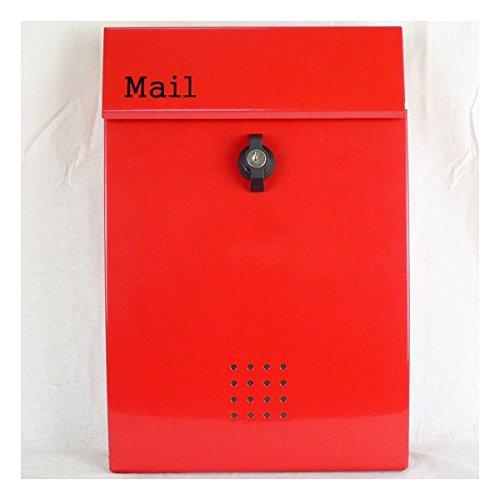 JINGHUA 郵便ポスト 郵便受け 錆びない メールボックス壁掛けレッド赤色 ステンレスポスト(red) B077HYSQZQ 16300