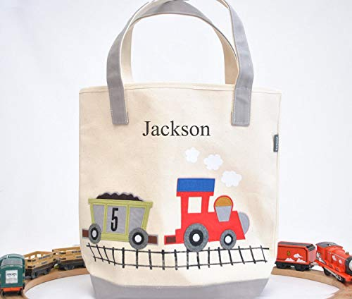 Train Tote| Personalized kids Library bag| toddler for sale  Delivered anywhere in USA
