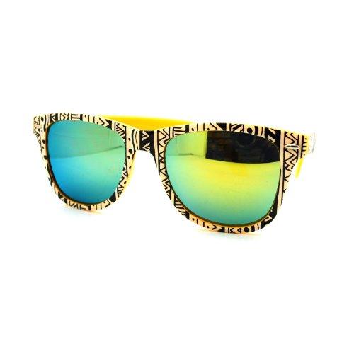9796d20f686 Aztec Tribal Print Wayfarers Sunglasses Multicolor Mirror Lens ...