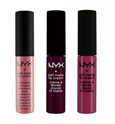 NYX Soft Matte Lip Cream Set of 3: Copenhagen, Milan, & Prague ()