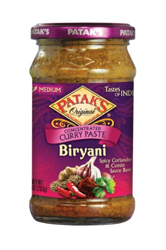 Patak's Biryani  Curry Paste, Medium, 10-Ounce Glass Glass Jars (Pack of - Line On Uk Glasses
