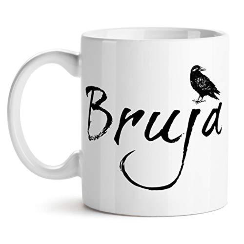 SAYOMEN - Bruja Coffee Mug, Bruja Witch Mug, Witchcraft Gift, Raven Coffee Mug, Halloween, Black Crow Mug, Nevermore Mug Dark Art Goth Gift Witchcraft MUG -