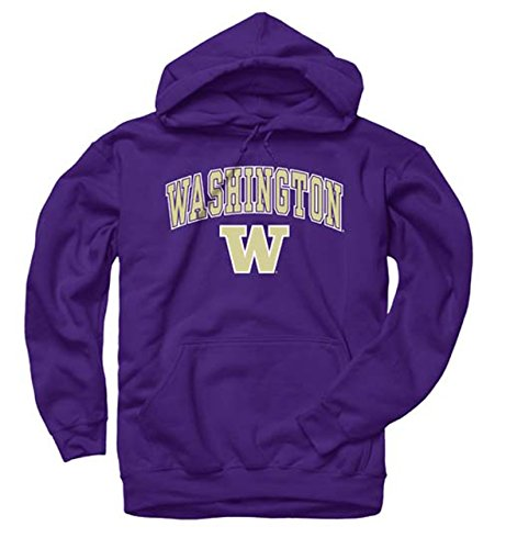 Washington Huskies Arch & Logo Gameday Hooded Sweatshirt - Purple, Medium