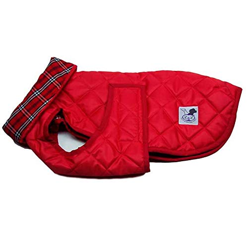 Red 60Lucas & Lola Waterproof Padded Dog Coat with Collar