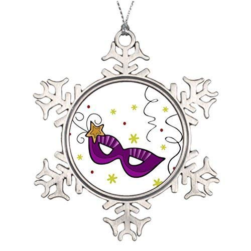 wonbye Christmas Ornaments 2018, Tree Decoration Mardi Gras Eye Mask Xmas Decorating Ideas Pattern Metal Snowflake Tree Decoration