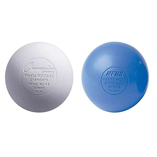 Lacrosse Balls (2-Pack) - White-Blue