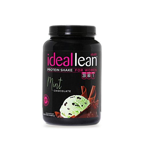 IdealLean - Nutritional Protein Powder for Women | 20g Whey Protein Isolate | Supports Weight Loss | Healthy Low Carb Shakes with Folic Acid & Vitamin D | 30 Servings (Chocolate Mint) ()