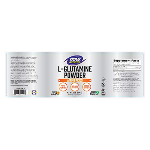 now sports l-glutamine powder review