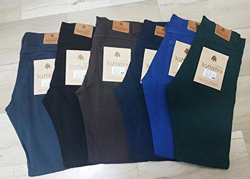 Cristiano Jeans Scuro Uomo Battistini Casual Pantaloni Invernale Sartoriale Elegante Blu Navy 45Tqt5Bw