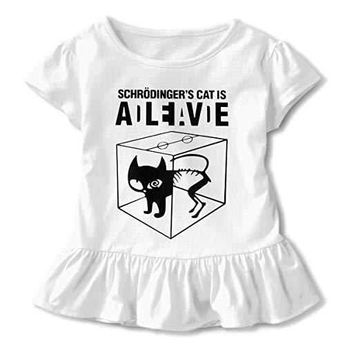 - Schrodinger's Cat Baby Girls Summer Dress Outfits Ruffle Short T-Shirt Romper Dress,One-Piece Jumpsuit White