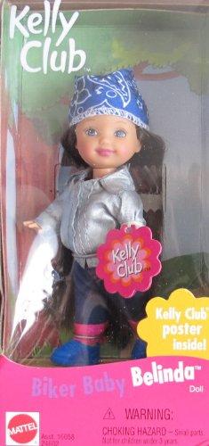 Price comparison product image Barbie Kelly BIKER BABY BELINDA Doll w Kelly Club Poster Inside (1999)