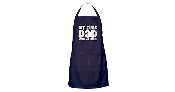Amazon.com: CafePress – 1ER Tiempo Dad Gracioso delantal ...