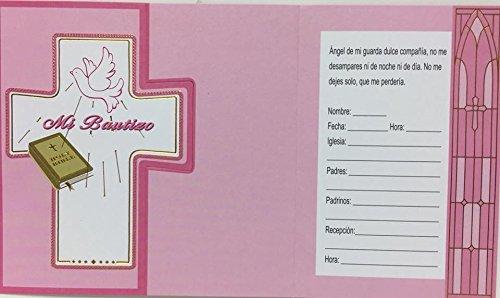 Invitation To My Baptism Mi Bautizo Invitacion Para Bautizo with Envelopes 8 Count