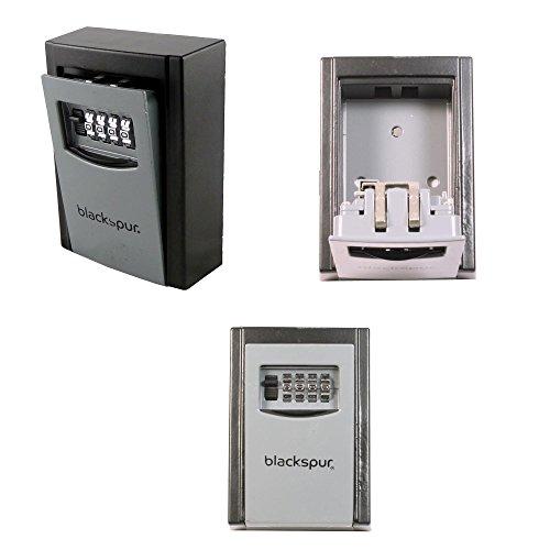 Blackspur BB-KS400 Schlüsselkasten mit Kombinationsschloss, zur Wandmontage